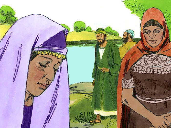 6. PAUL & SILAS are guided to PHILIPPI where they meet Lydia. (Acts 15:36 - 16:15): Slide 15 SLIDE SHOW @ http://www.freebibleimages.org/illustrations/paul-antioch-philippi/
