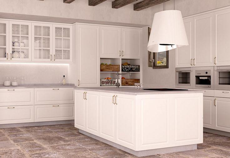 Corte clásico y colores neutros para una cocina a la última