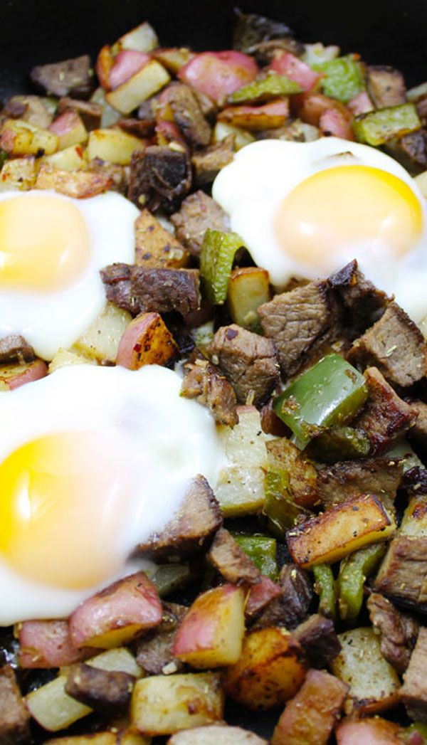 One Pan Steak and Red Potato Hash