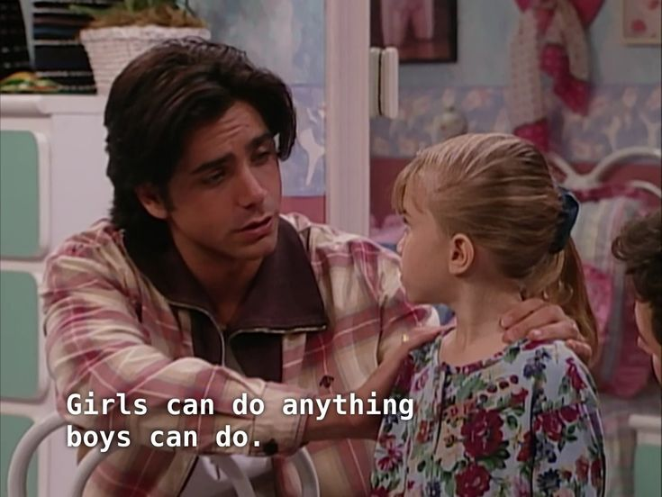 Uncle Jesse preaches girl power to Michelle