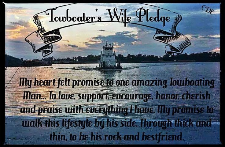 towboaters wife pledge tug wife pinterest