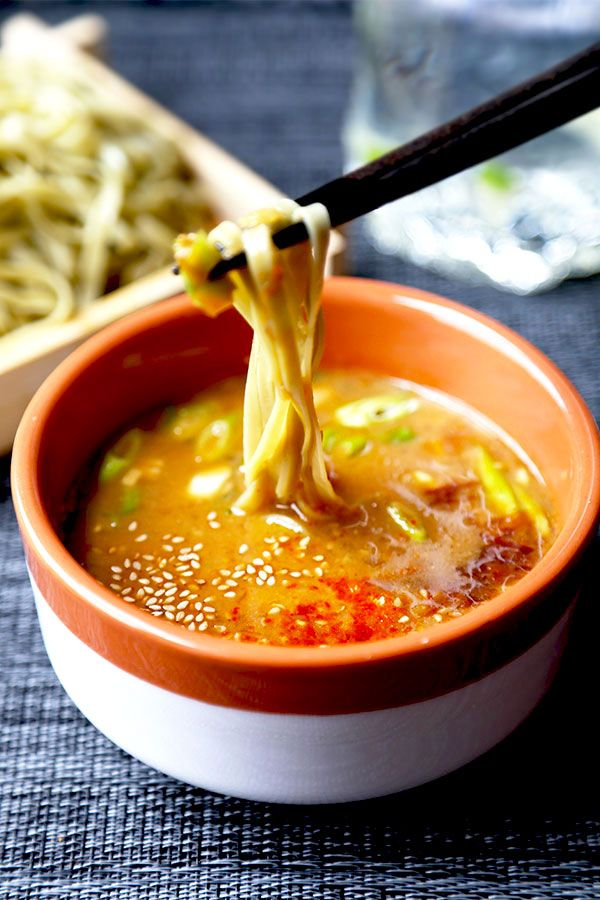 Spicy Miso Tsukemen - A cooling and summer-perfect Tsukemen Recipe served with a…