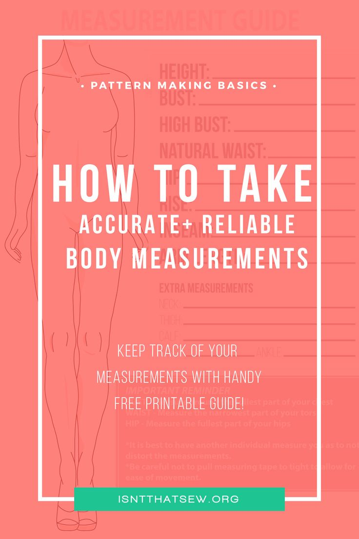 Learn how to easily and accurately record your own bodies measurements for sewing and pattern making. Click thru for the free printable guide!
