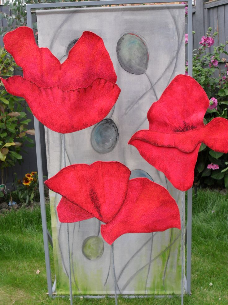 Poppies by Carly Gilliatt, Out There Exhibition,