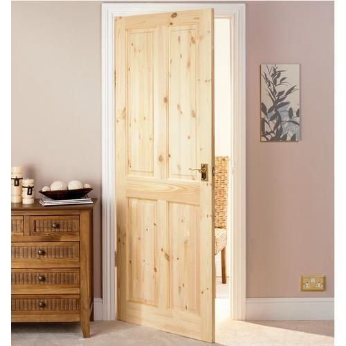 Knotty Pine Kitchen Cabinet Doors: Wickes Chester Knotty Pine 4 Panel Internal Door