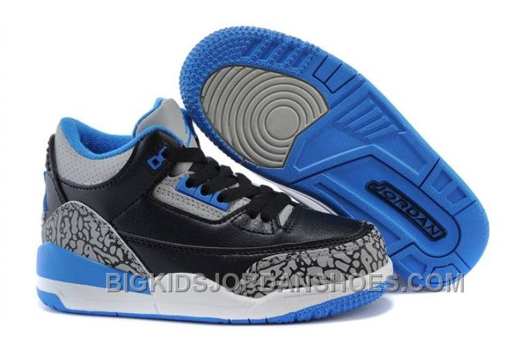 "http://www.bigkidsjordanshoes.com/kids-jordan-3-sport-blue-black-sport-bluewolf-grey-hot.html KIDS JORDAN 3 ""SPORT BLUE"" BLACK/SPORT BLUE-WOLF GREY HOT Only $79.47 , Free Shipping!"