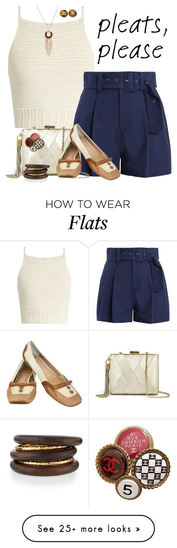 """Pleated summer"" by joyfulmum on Polyvore featuring SHE MADE ME, Sea, New York, GUESS by Marciano, Bally, Chanel, Thalia Sodi and NEST Jewelry"