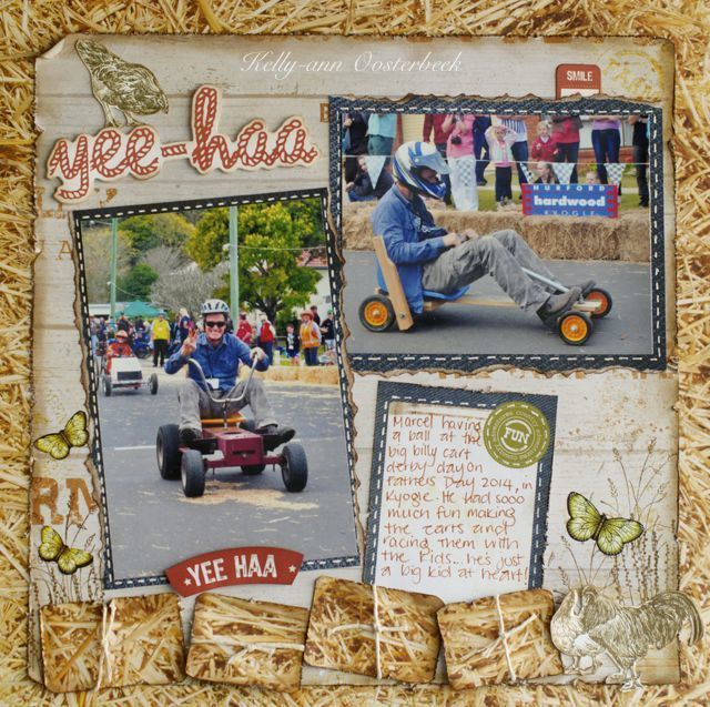 Layout By Kelly-ann Oosterbeek made using the Old Mac Collection from Kaisercraft. www.amothersart.com.au