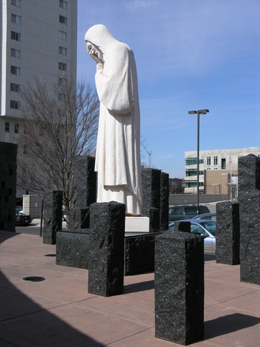 Oklahoma City Bombing Memorial - statute of Jesus with tears flowing down his face. Made me so sad. Everyone should see this memorial.