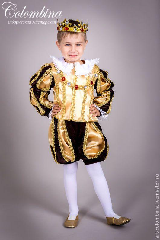 Детские карнавальные костюмы ручной работы. Ярмарка Мастеров - ручная работа. Купить костюм короля. Handmade. Золотой, король