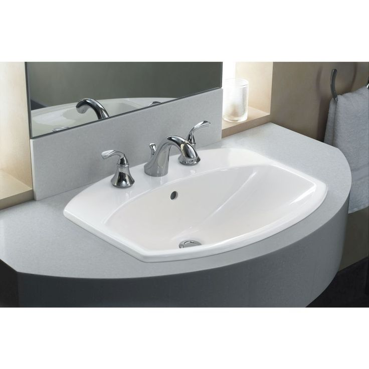The Forte widespread bathroom faucet fits in nicely with ...