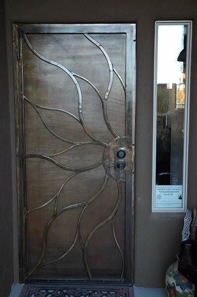 Custom iron screen door.... Not ur average, ugly screen door!