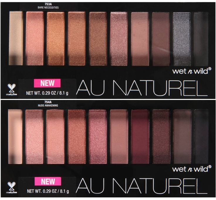 Wet n Wild Au Naturel Eyeshadow Palettes