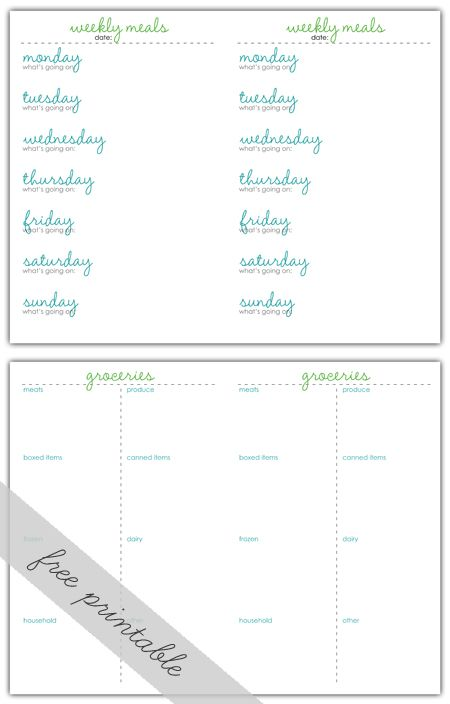 : Diy Ideas, Awesome, Grocery List, Dinner Chart, Planning Printables, Organization Ideas, Craft Ideas, Free Printables