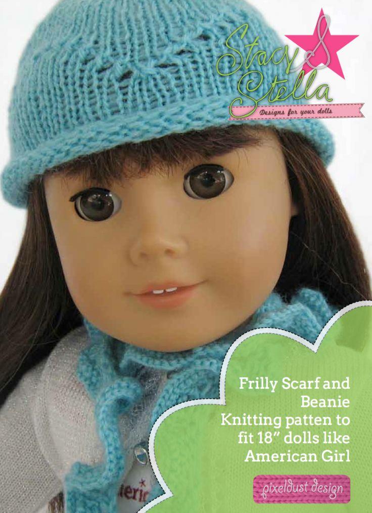 Knitting Pattern For Dolls Beanie : 14 best American Girl Knitting patterns images on Pinterest