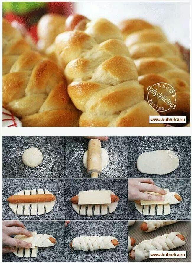 hotdogs pastries