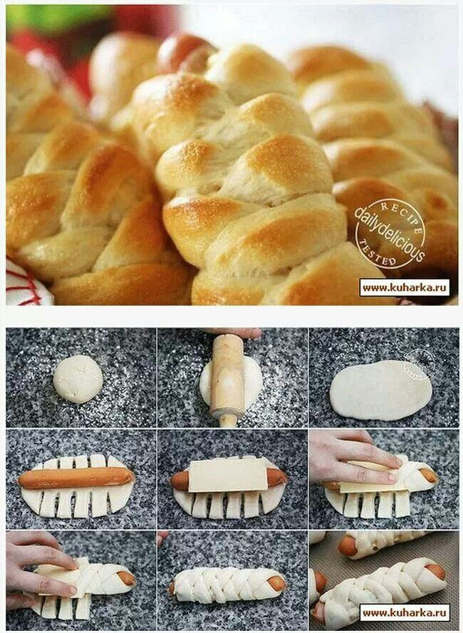 hotdogs pastries