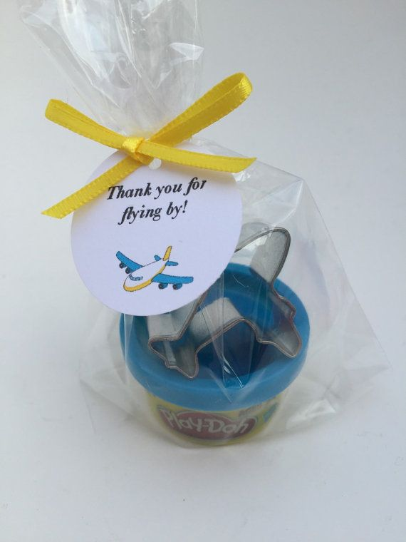Airplane Party Favor: Airplane Theme Favor, Play Doh and Airplane Cutter Favor, Airplane Favor