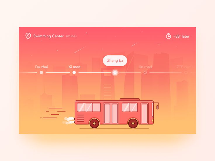 Daily UI #22  It's a bus positioning app.It's a cross-screen display app.  Often waiting for the bus when I don't know how long time the bus will arrive at station,and don't know how long I should ...