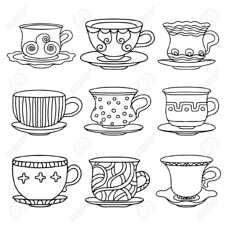 tea cup cartoon images
