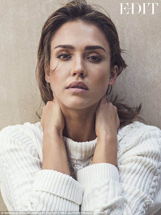 Jessica Alba discusses sexism while posing for knitwear photoshoot | Daily Mail Online