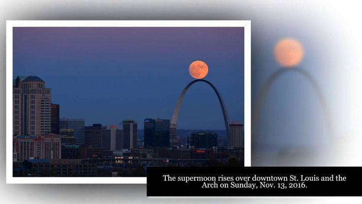 Amazing Supermoon on the St  Louis Arch on Sunday, Nov-13, 2016