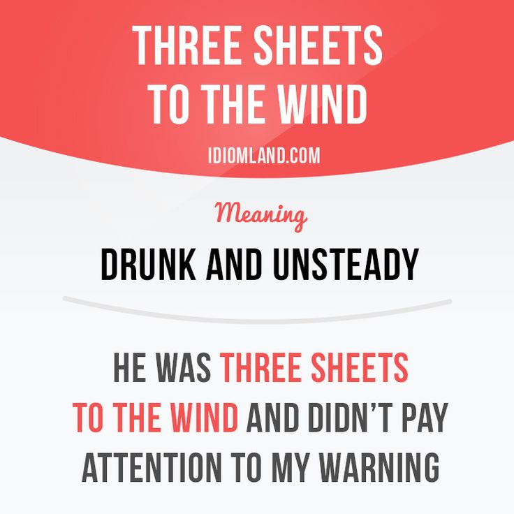 Have you ever been three sheets to the wind? - Repinned by Chesapeake College Adult Ed. We offer free classes on the Eastern Shore of MD to help you earn your GED - H.S. Diploma or Learn English (ESL) . For GED classes contact Danielle Thomas 410-829-6043 dthomas@chesapeke.edu For ESL classes contact Karen Luceti - 410-443-1163 Kluceti@chesapeake.edu . www.chesapeake.edu