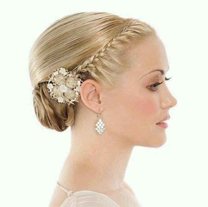 Tight Side Bun With A Tight Braid Side Buns Pinterest