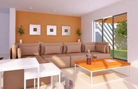 Resultado de imagen para paredes color naranja y marfil