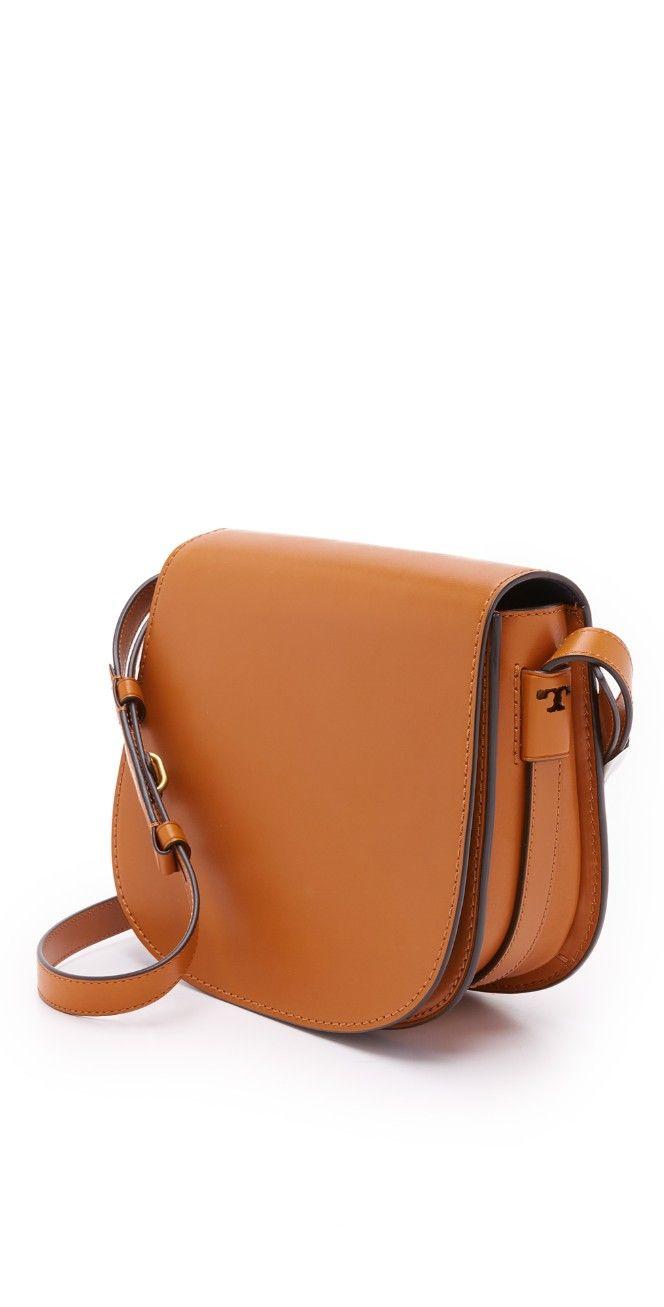 Tory Burch Leather Saddle Bag   SHOPBOP