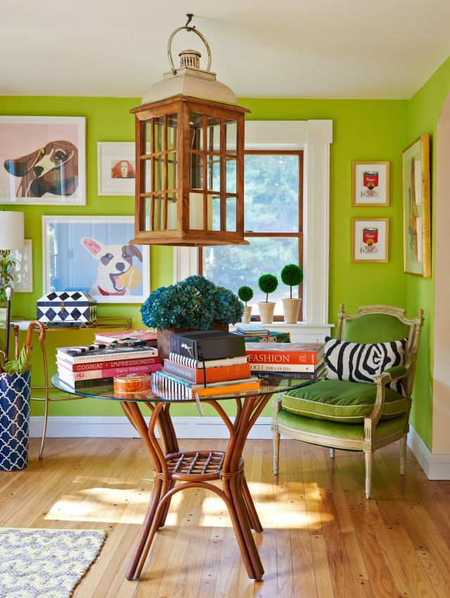"Bright Green   This is the cheery shade of green you'll see in home decor, fashion and commercial design in 2017. Named the 2017 Pantone Color Of The Year, ""Greenery"" is meant to represent refreshment and revitalization — something we all could use in a complex social and political environment, according to Pantone."
