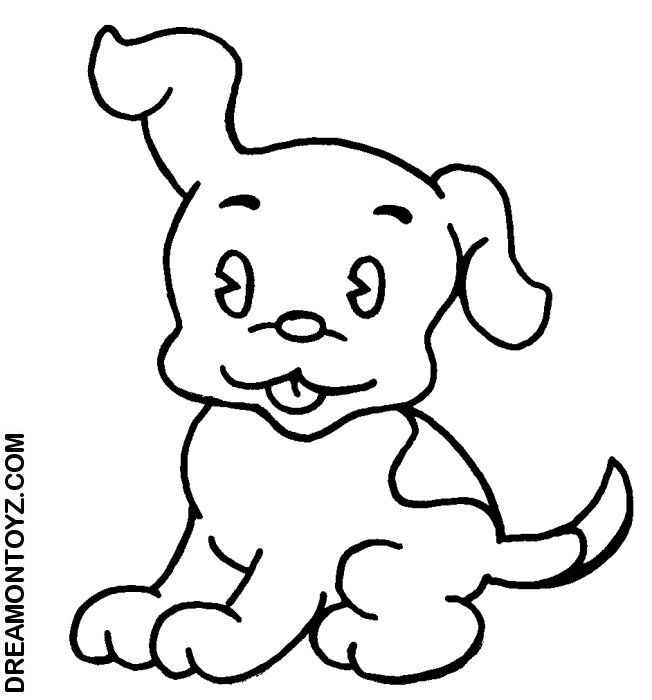 p is for puppy coloring pages - photo #8