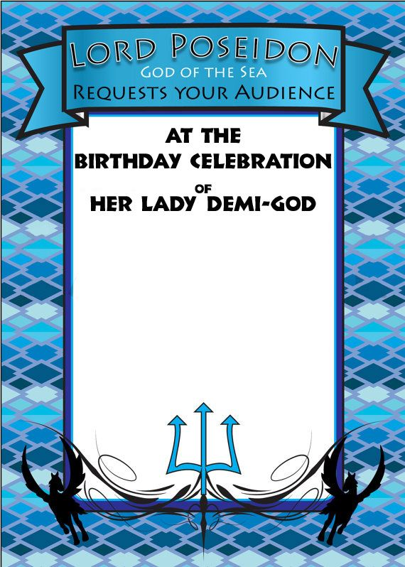 For anyone wanting to have a Percy Jackson theme birthday. I have put together a few different invitation for you to use