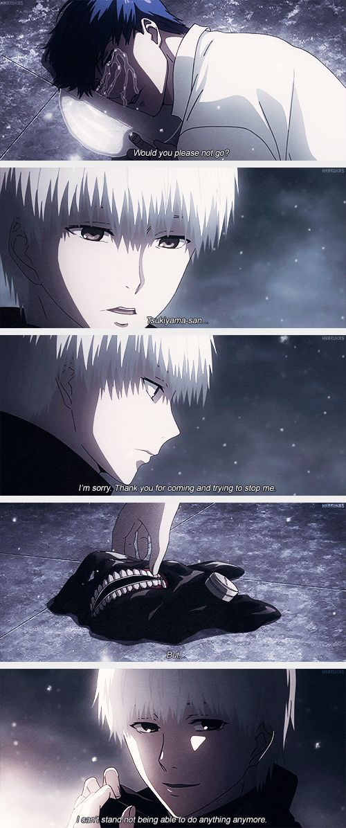 """(gif set) """"I'm sorry. Thank you for coming and trying to stop me. But... I can't stand not being able to do anything anymore."""" 