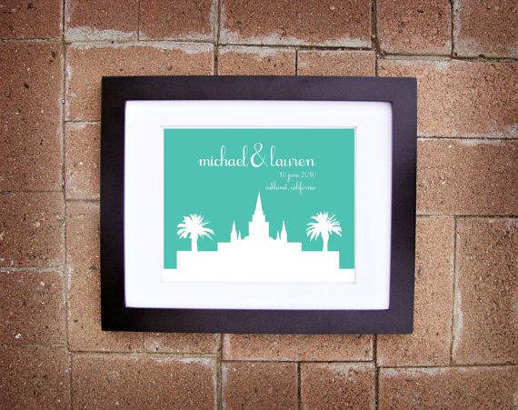 Personalized LDS Temple Wedding Prints, printable.  Love this for a Temple wedding.