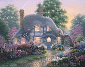 Image Detail For Beautiful Art From Richard Burns Cottage WallpaperStorybook CottageEnglish