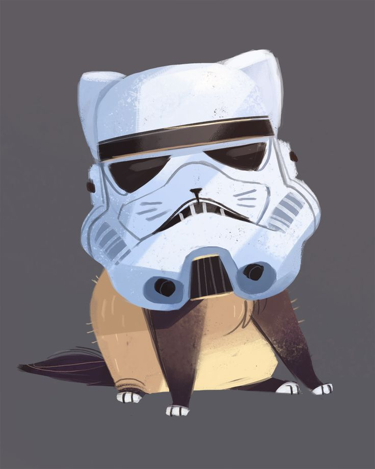 Daily Cat Drawings — 440: A bit short to be a stormtrooper..(6 days to...