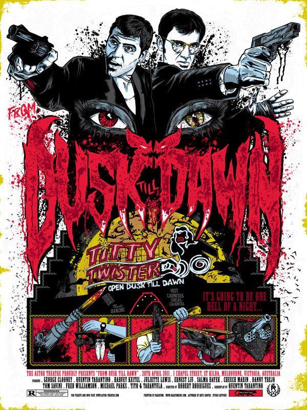 The Geeky Nerfherder: Movie Poster Art: From Dusk Till Dawn (1996)