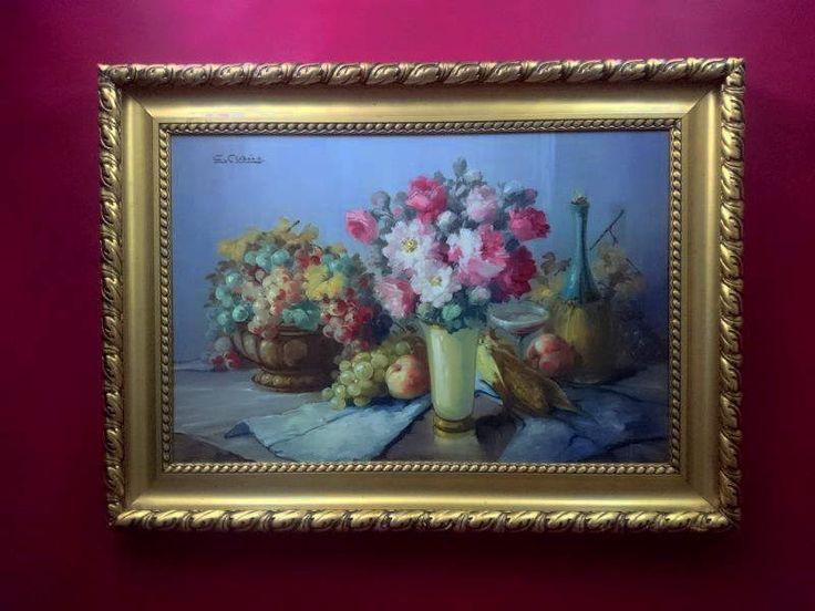 Obraz Olejny Georg CLAUS Martwa Natura z Kwiatami RARYTAS