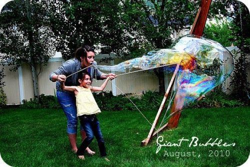burbujas gigantes agua verano actividades
