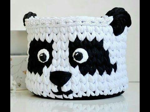 Cestas de trapillo a crochet con diseños de animales: búhos, conejitos, zorros... - YouTube
