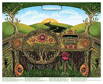 EMEK Edward Sharpe and The Magnetic Zeros Concert Poster Print Tour 2012 VW Bus -this would make a great tattoo!