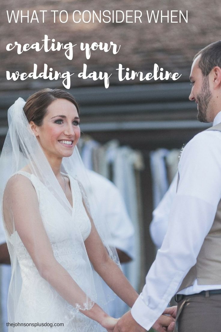 Today We Re Going To Chat About What Consider When Creating Your Wedding Day Timeline