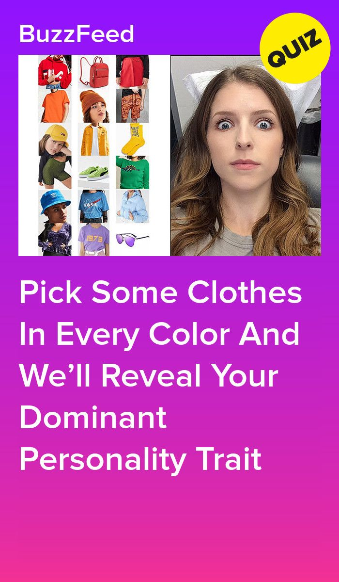 Pick Some Clothes In Every Color And We'll Reveal Your Dominant