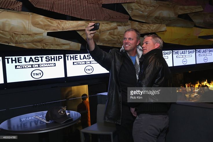 Actors Adam Baldwin and Eric Dane attend the 'The Last Ship' All-Star Viewing Party at Clyde Frazier's Wine & Dine on February 15, 2015 in New York City. 25285_004_0199.JPG