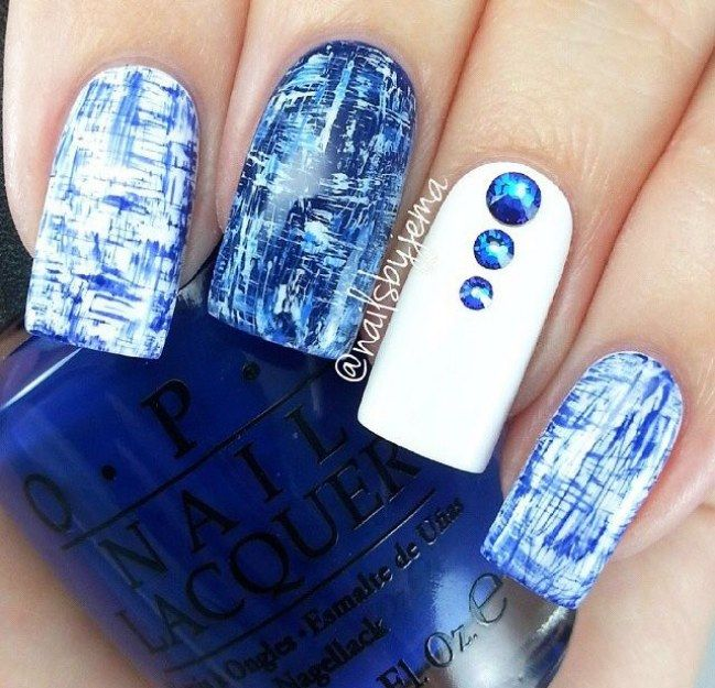 Dry-brushing, #arte abstracto en tus #uñas - #nails art ideas