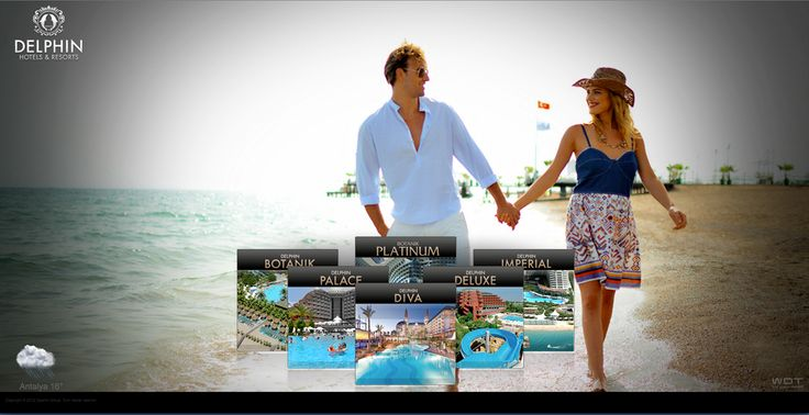 Delphin Hotels and Resorts HTML 5 Responsive Web Sitesi.