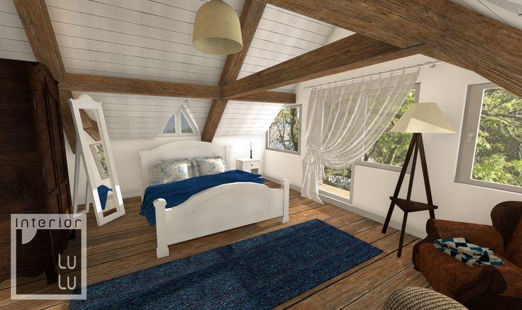 Pokój sypialnia na poddaszu