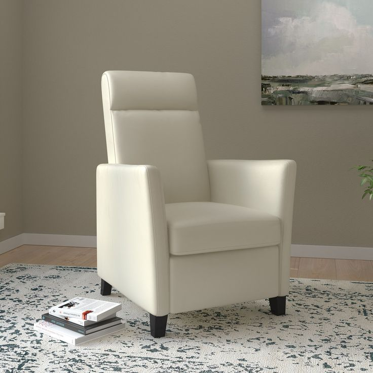 Delightful CorLiving Elise Contemporary Bonded Leather Recliner Chair (