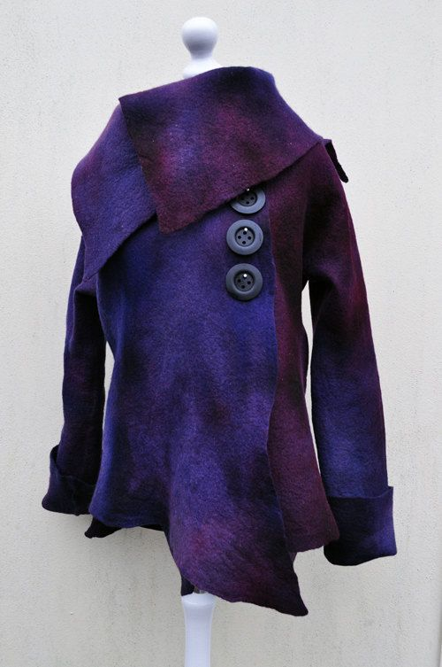 SALE  Jacket felted jacket felt wool by AleksandrabWiniarska, $149.00